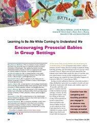 Encouraging Prosocial Babies in Group Settings - National ...