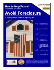 How to Help Yourself Avoid Foreclosure - Housing Opportunities ...