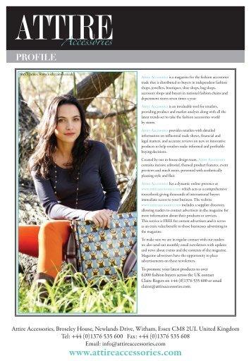 Media pack - Attire Accessories magazine
