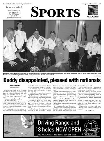 Duddy disappointed, pleased with nationals - the Quesnel & District ...