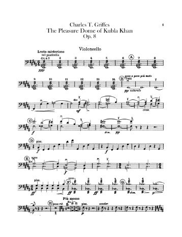 samuel taylor coleridge kubla khan still easy questions  griffes the pleasure dome of kubla khan op 8 cello