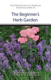 The Beginner´s Herb Garden - The Herb Society of America