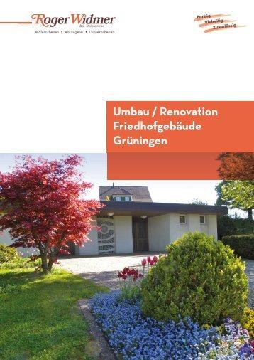 Umbau / Renovation Friedhofgebäude Grüningen - Malerei Widmer