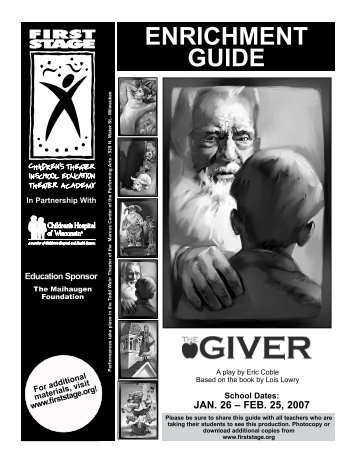 The Giver Enrichment Guide - First Stage