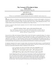 The Concept of Worship in Islam - Cary Masjid