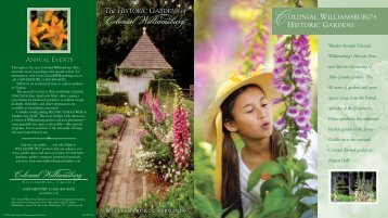 Download Gardens brochure - Colonial Williamsburg
