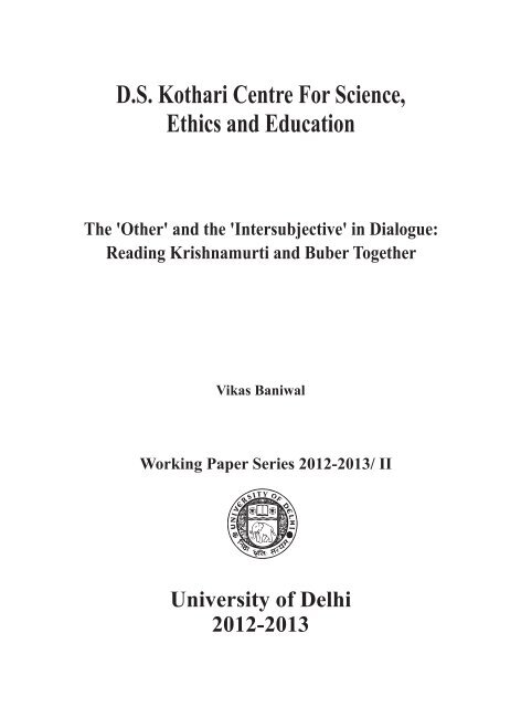 Working Paper-2 - University of Delhi