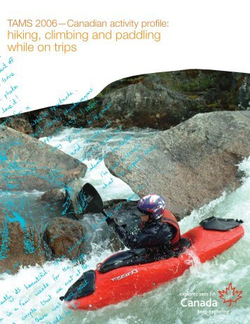 hiking, climbing and paddling while on trips - Canadian Tourism ...