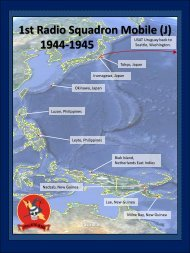 1st Radio Squadron Mobile (J) 1944-1945 - Air Force ISR Agency