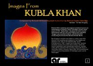 Composed by Richard Hill from the poem Kubla Khan ... - The Orchard