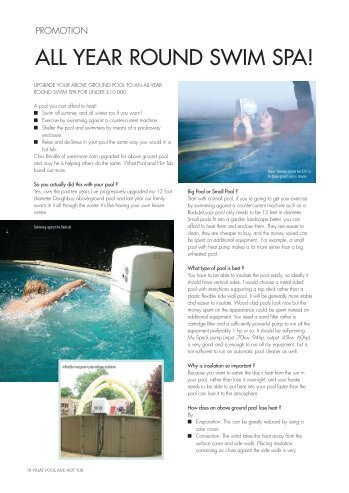 ALL YEAR ROUND SWIM SPA! - Use-it-more.com