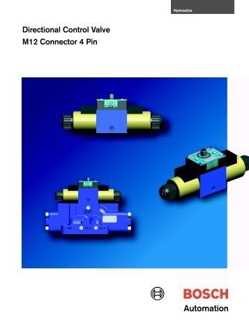 Directional Control Valve M12 Connector 4 Pin - Bosch Rexroth
