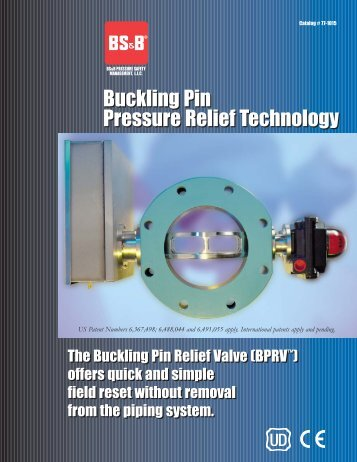 Buckling Pin Pressure Relief Technology Buckling Pin Pressure