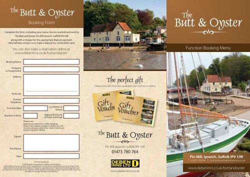 Butt & Oyster - Deben Inns