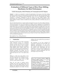 Evaluation of Different Types of Rice Flour Milling Machinery for their ...