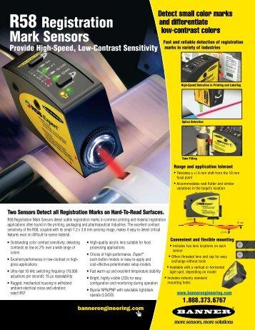R58 Registration Mark Sensors - Banner Engineering