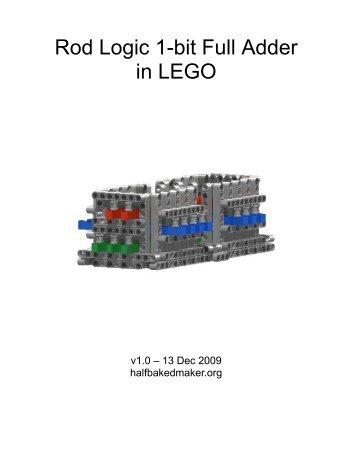 Rod Logic 1-bit Full Adder in LEGO - The Half-Baked Maker