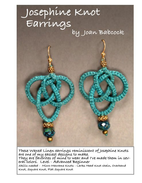 Josephine Knot Earrings - Micro-Macrame Jewelry
