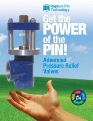 Advanced Pressure Relief Valves - Rupture Pin Technology