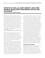 EFFECTS OF SOIL pH, ROOT DENSITY, AND TREE GROWTH ...