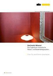 StoCreativ Mineral Das fugenlose mineralische Wand- und ...