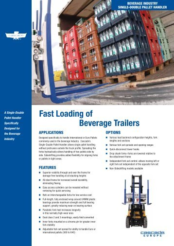 Single-Double Pallet Handler - Beverage Industry - Cascade ...