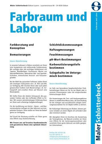 pdf Broschüre Farbraum und Labor - Maler Schlotterbeck