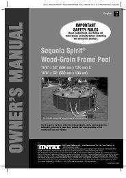 Sequoia Spirit® Wood-Grain Frame Pool