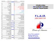 (F.L.A.I.R.) Line Guide - City of Fort Lauderdale