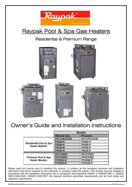 raypak pool & spa gas heaters  yumpu