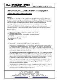 ITW Devcon® CELLOFLEX-M shaft coating system - HA SPRINGER