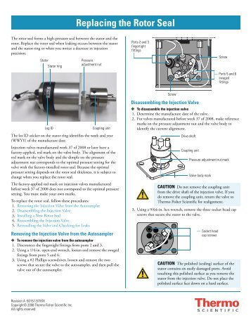 Replacing the Rotor Seal