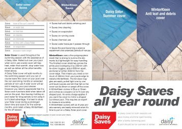 WinterKleen all year round cover brochure - Daisy Pool Covers