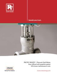 Pacific Valves® Pressure Seal Valves - CRANE Energy Flow Solutions