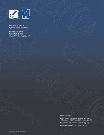 Catalog Download - K1 Technologies
