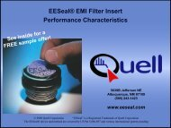 EESeal® EMI Filter Insert Performance Characteristics - EESeal.com