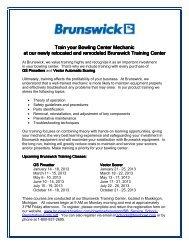 Maintenance Schools 2013 - Brunswick
