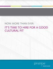 Pinstripe - Now More than Ever: It's Time to Hire for a Good Cultural Fit