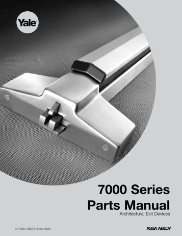 7000 Series Parts Manual - ASSA ABLOY Door Security Solutions ...