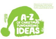 A-Z of Christmas fundraising ideas - at www.be.macmillan.org.uk. A ...