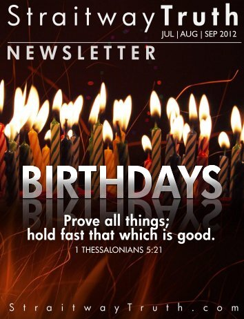 DOWNLOAD the Latest Newsletter HERE - The ... - StraitwayTruth