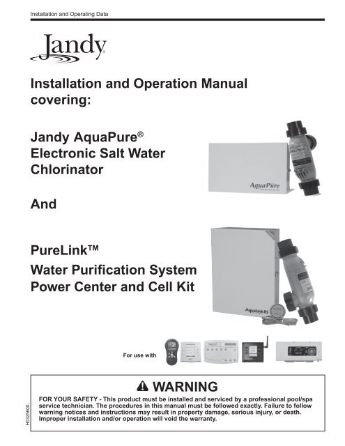 aqualink wiring diagram installation and operation manual covering zodiac pool systems  inc  zodiac pool