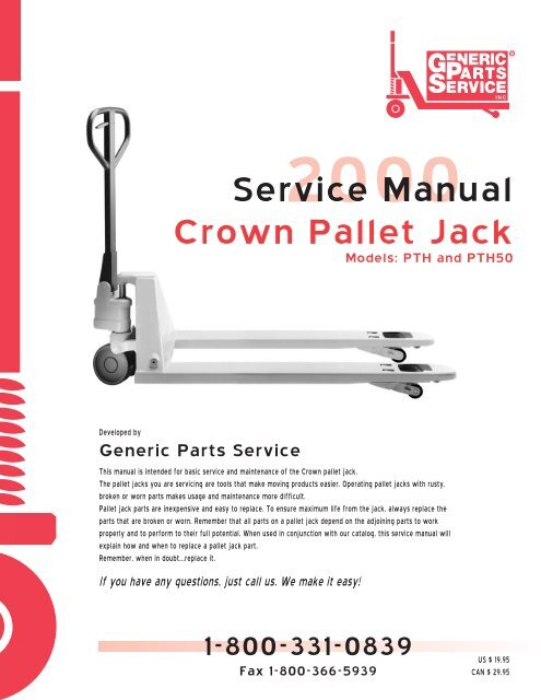 Service Manual Crown Pallet Jack Tru Wholesaler