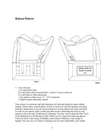 Rakusu Pattern - Upaya Zen Center