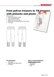 Modification 7/8 trousers with pintucks and pleats - My Label 3D ...