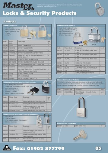 Locks & Security Products - Basta Parsons