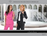 Download the Cherokee Catalog - Cherokee Uniforms