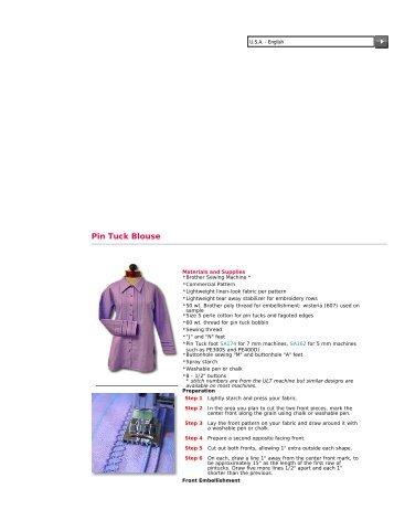 Pin Tuck Blouse - CompuSew