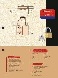 Sherlock Solid Brass Padlock - Godrej Locking