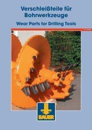 Verschleißteile für Bohrwerkzeuge Wear Parts for Drilling Tools
